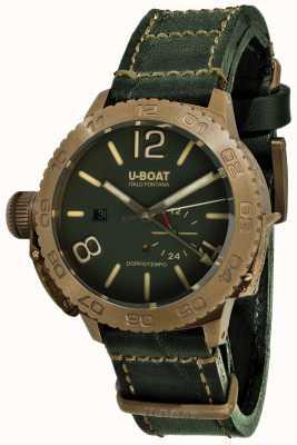 U-Boat Doppiotempo 46 бронзо гр автоматический зеленый кожаный ремешок 9088