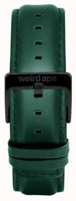 Weird Ape Темная кожаная кожаная 20мм ремешок черного цвета ST01-000075