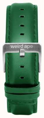 Weird Ape Изумрудная кожаная 20мм ремешок из серебра ST01-000110