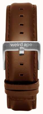 Weird Ape Дуб кожаная 20мм ремень серебряная пряжка ST01-000099