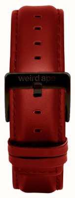 Weird Ape Красная кожаная 20мм ремешок для черной пряжки ST01-000077