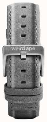 Weird Ape Ширина серого замши 20 мм ремешка серебристая пряжка ST01-000016