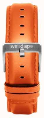 Weird Ape Оранжевая кожа 20мм ремешок из серебра ST01-000111