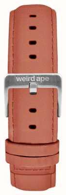 Weird Ape Розовая розовая замша 16мм ремешок из серебра ST01-000052