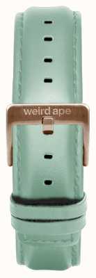 Weird Ape Мягкая зеленая кожа 16мм ремешок из розового золота ST01-000042