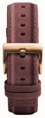 Weird Ape Пастель розовая кожаная 16мм ремешок из розового золота ST01-000033