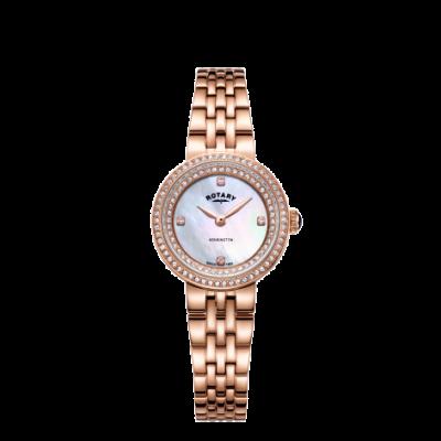 Rotary Женские кенсингтонские кристаллы розового золота браслет смотреть LB05374/41