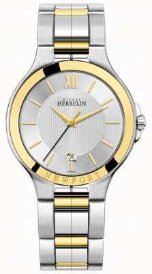 Michel Herbelin Mens newport royale двухцветный серебряный и золотой браслет 12298/BT11