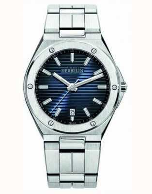 Michel Herbelin Мужские часы из нержавеющей стали с синим циферблатом 12245/B15