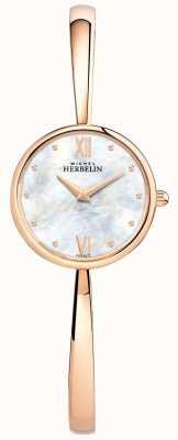 Michel Herbelin Женские розовые золотые часы с розовым золотом 17408/BPR19
