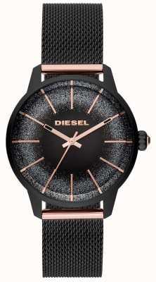 Diesel Женская калина черная и розово-золотая часовая сетка DZ5577