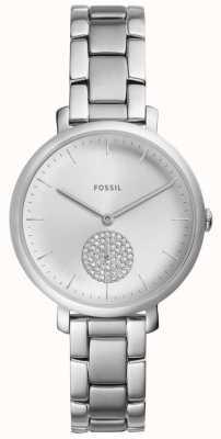 Fossil Жемчужные часы из нержавеющей стали из серебра ES4437