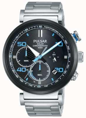 Pulsar Ex display - мужские солнечные часы с хронографом из нержавеющей стали PZ5065X1-EX-DISPLAY