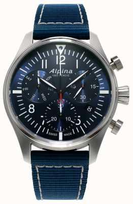 Alpina Mens Startimer пилот хронограф кварцевый синий AL-371NN4S6