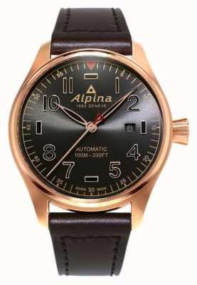 Alpina Mens startimer pilot автоматический коричневый коричневый коричневый цвет AL-525GG4S4