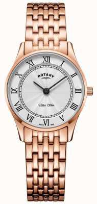 Rotary Женские ультра тонкие розовые золотые браслеты LB08304/01