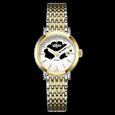 Rotary Женские часы с двумя золотыми и серебряными браслетами LB05302/01