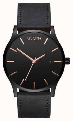 MVMT Классическая кожа с черной розой | черный ремешок | черный циферблат D-MM01-BBRGL