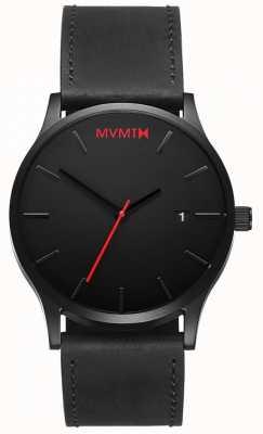 MVMT Классическая черная кожа | черный ремешок | черный циферблат D-L213.5L.551