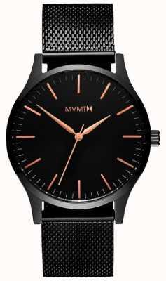 MVMT 40 серия черная роза | черная сетка из пвд | черный циферблат D-MT01-BBRG