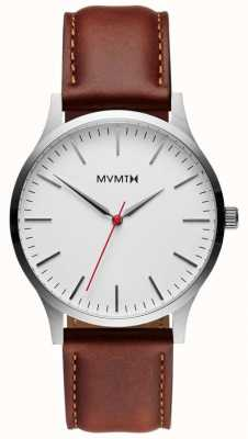 MVMT 40 серия серебристый натуральный загар | коричневый ремешок | серебряный циферблат D-MT01-SNA
