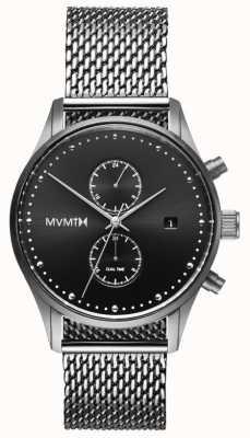 MVMT Вояджер стерлинг | сетка из нержавеющей стали | черный циферблат D-MV01-S2
