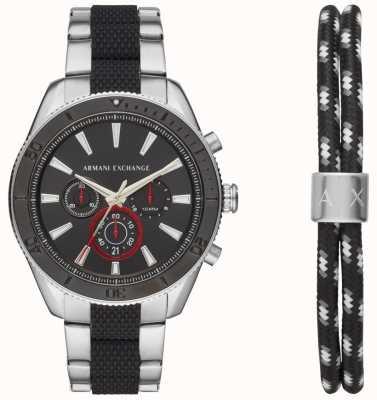 Armani Exchange Мужская enzo спортивный хронограф смотреть рекламный браслет подарочный набор AX7106