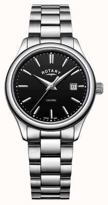Rotary Черный браслет из нержавеющей стали из оксфорда LB05092/04