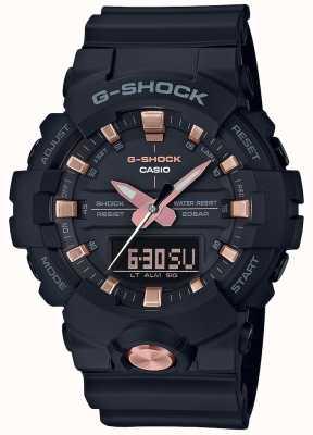 Casio G-shock аналоговый цифровой многофункциональный матовый черный розовое золото GA-810B-1A4ER