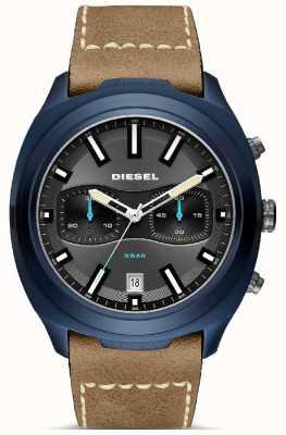Diesel Мужские тумблеры с синим футляром из коричневой кожи DZ4490