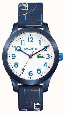 Lacoste 12.12 детский синий ремешок белый циферблат 2030008