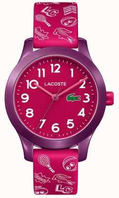 Lacoste 12.12 детский розовый ремешок розовый циферблат 2030012