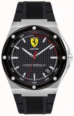 Scuderia Ferrari Мужчины стремятся черный резиновый ремень отображения даты 0830529