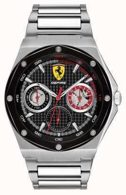 Scuderia Ferrari Мужчины стремятся из нержавеющей стали черный дисплей даты набора 0830535