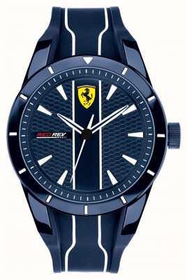 Scuderia Ferrari Мужской красный красный синий циферблат синий резиновый ремешок 0830541