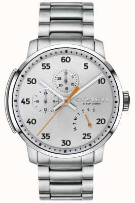 Coach Mens bleecker многофункциональные часы серебристые 14602358