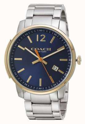 Coach Mens bleecker тонкий синий циферблат 14602342