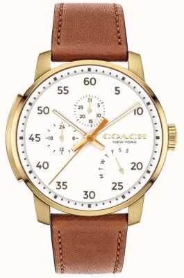 Coach Мужские часы для часов многофункционального белого 14602340