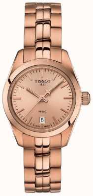 Tissot Ladies pr100 розовое золото браслет перламутровый циферблат T1010103345100