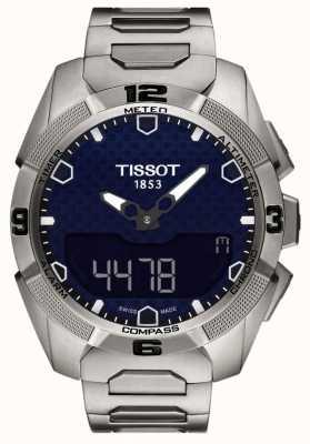 Tissot Mens t-touch titanium expert солнечный будильник chrono T0914204404100