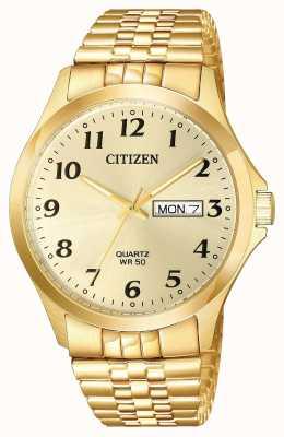 Citizen Мужские кварцевые позолоченные браслеты BF5002-99P