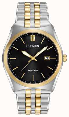 Citizen Eco-drive corso black dial два тона wr100 BM7334-58E
