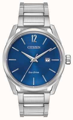 Citizen Мужская экранированная индикация даты набора из нержавеющей стали с электронным управлением BM7410-51L