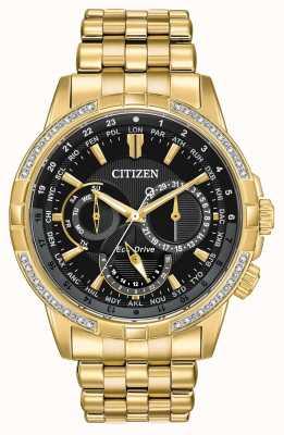 Citizen Мужские календующие из экологически чистого золота позолочены 32 бриллиантами BU2082-56E