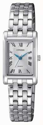 Citizen Женский серебряный кварцевый циферблат EJ6120-54A