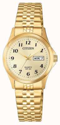 Citizen Женские кварцевые часы из нержавеющей стали EQ2002-91P