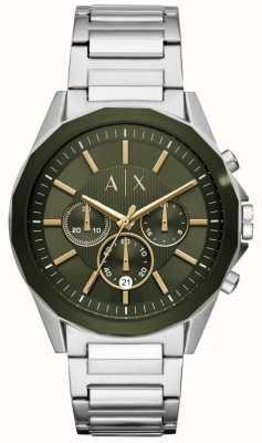 Armani Exchange Хронограф из нержавеющей стали Drexler AX2616
