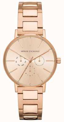 Armani Exchange Lola женский розовое золото pvd покрыло AX5552