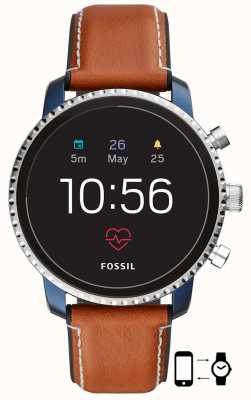 Fossil Подключенный q изысканный hr smart watch коричневый кожаный ремешок FTW4016