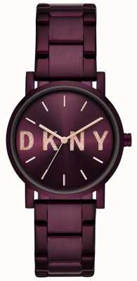 DKNY Soho женский фиолетовый pvd покрынный браслет NY2766